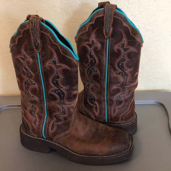 776d89080d5 Justin Gypsy Square Toe Boots 6B